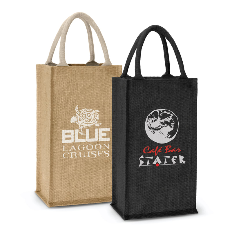 New Zealand based Enviro Bags Direct enviro and eco friendly jute bottle carry bags