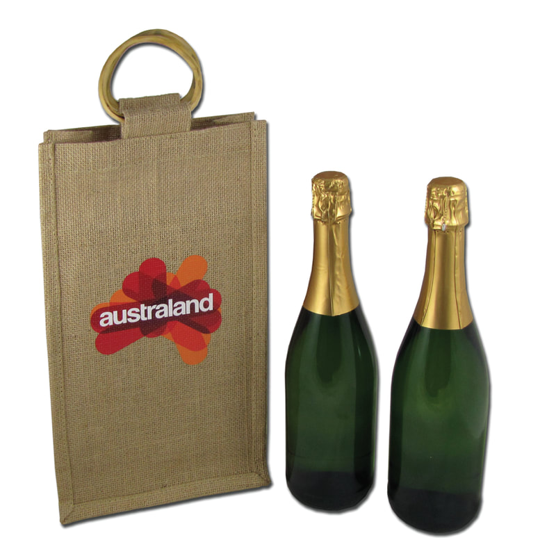 New Zealand based Enviro Bags Direct enviro and eco friendly jute bottle carry bag